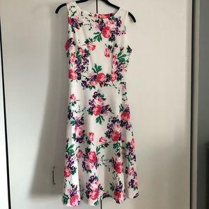 Floral Midi Swing Dress